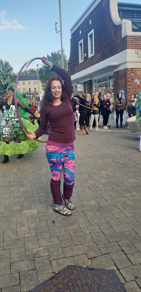 Emma Hockley Hustle Nottingham event parade 1
