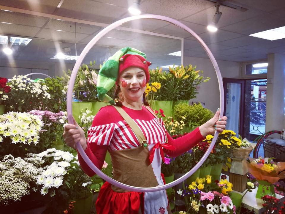 Xmas Elf Hula Hoop Christmas Entertainment